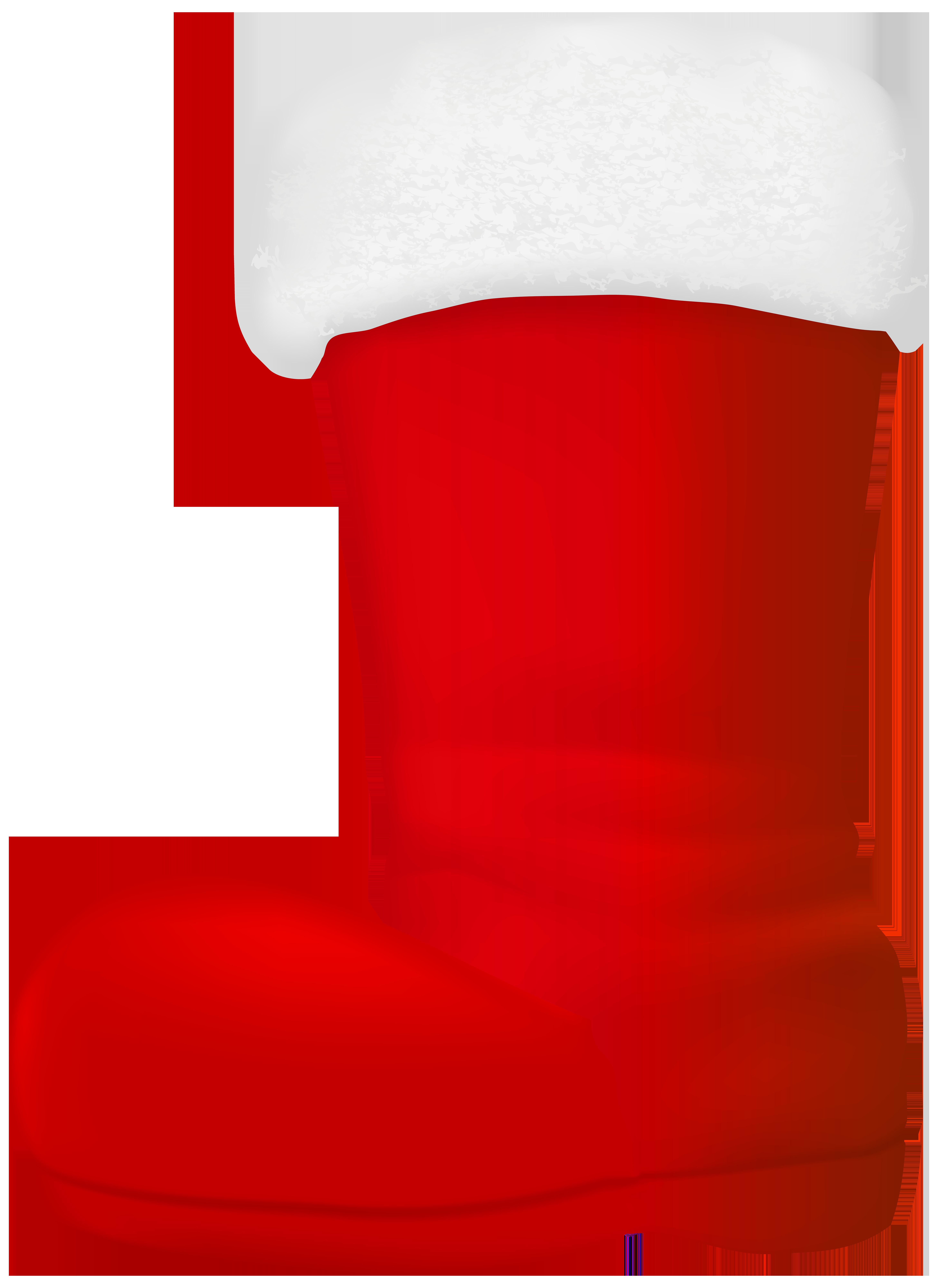 Santa Claus Boot Transparent Clip Art Image.