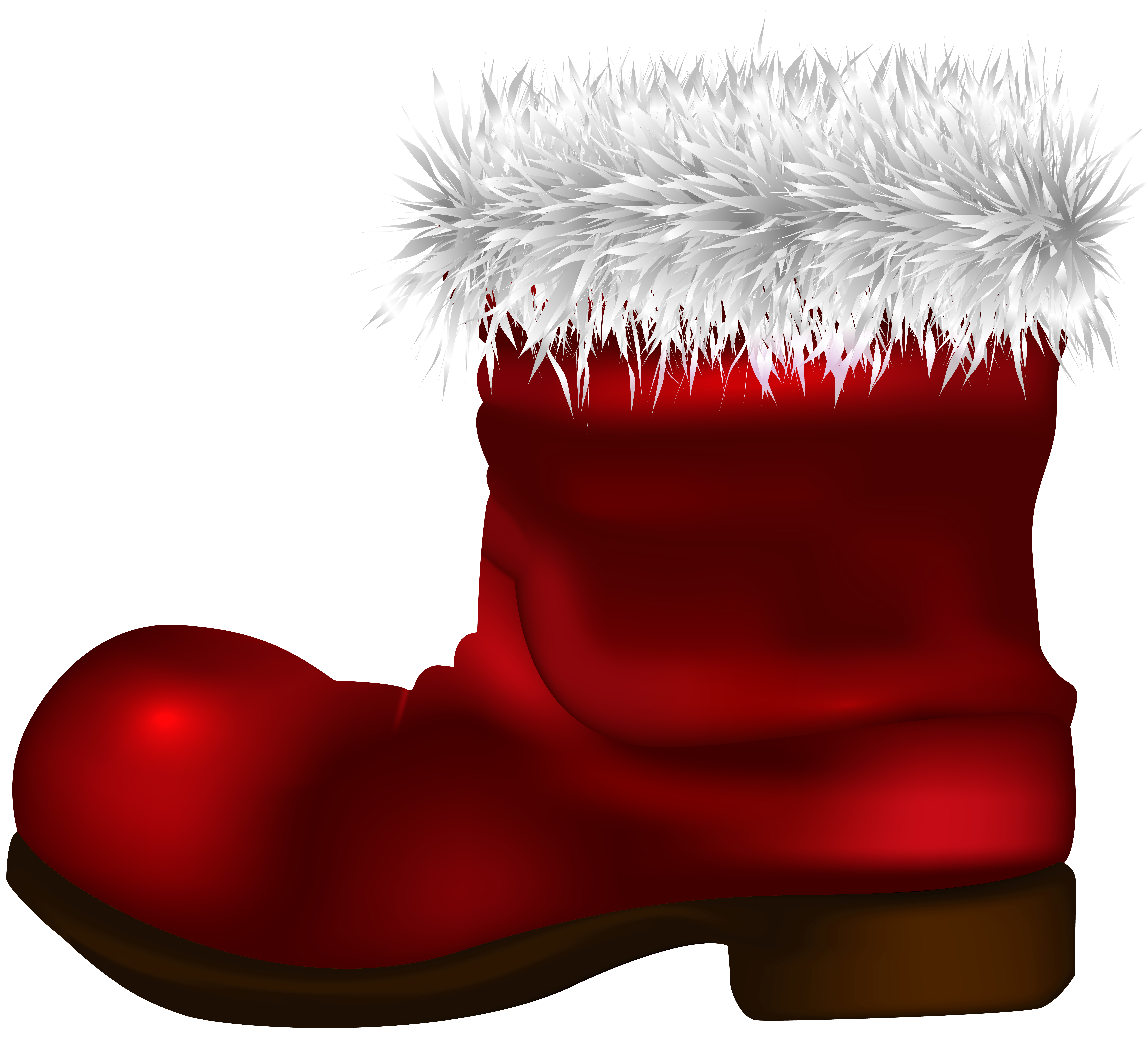 Santa Claus Boot PNG Clip Art Image.