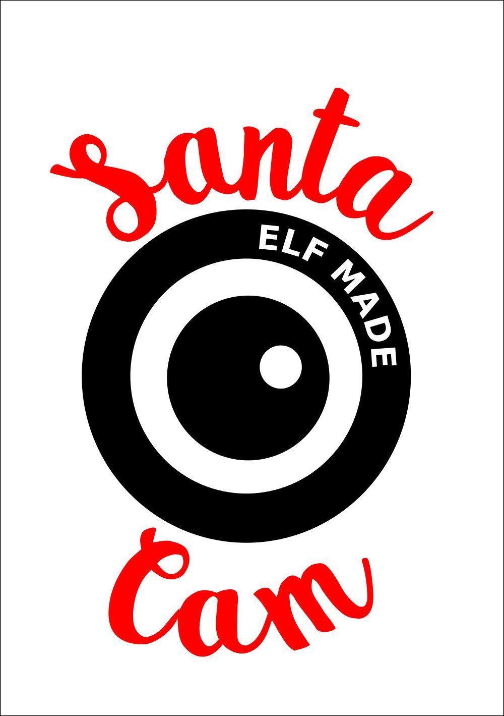 Svg Christmas, Santa Cam SVG, dxf, pdf Cuttable file, Santa.