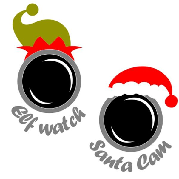 Santa Cam SVG Cuttable Design.