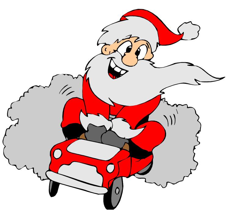 Santa Cars Cliparts.