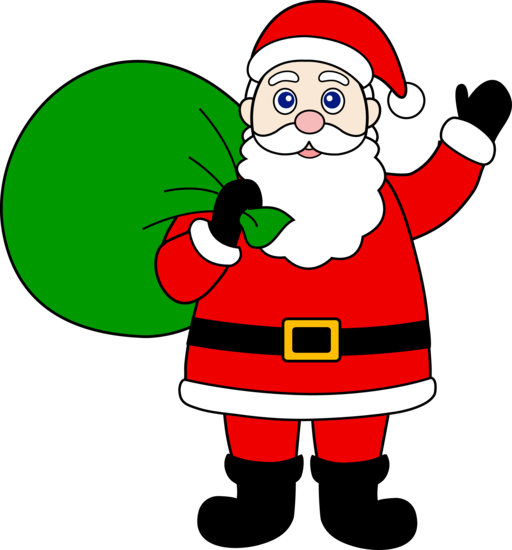 Santa Cartoon Clipart.