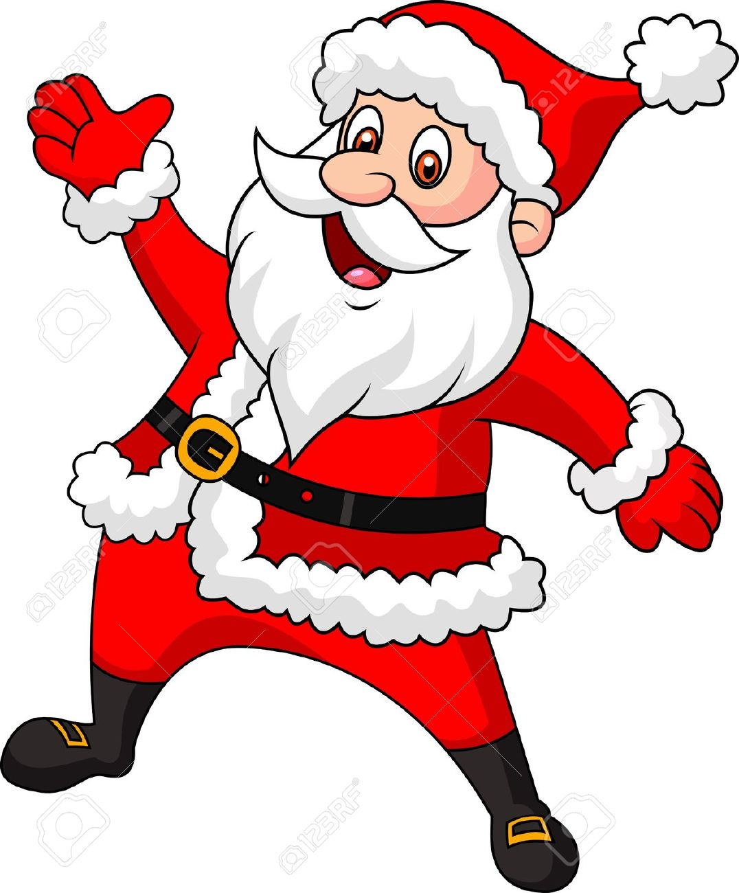 santa cartoon clipart clipground