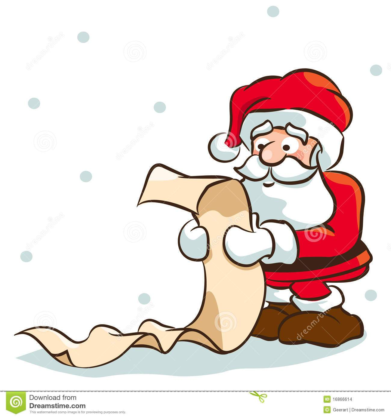Santa checking his list clipart 5 » Clipart Portal.