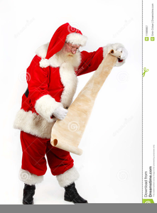 Free Clipart Santa Checking His List.