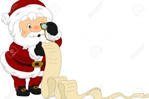 Santa checking his list clipart 5 » Clipart Portal.