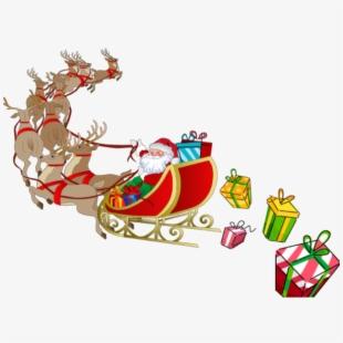 Free Santa In Sleigh Clipart Cliparts, Silhouettes, Cartoons.