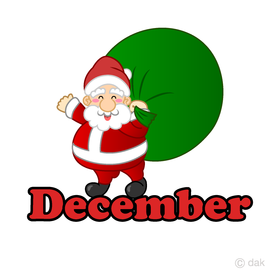 Free Santa December Clipart Image|Illustoon.