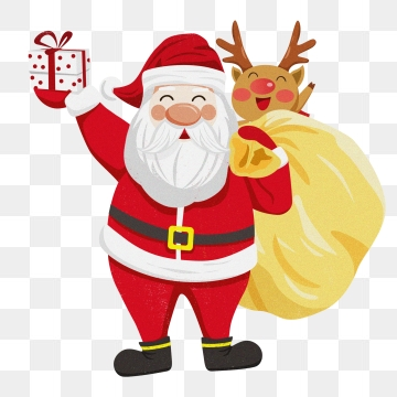 Santa Claus And Reindeer PNG Images.