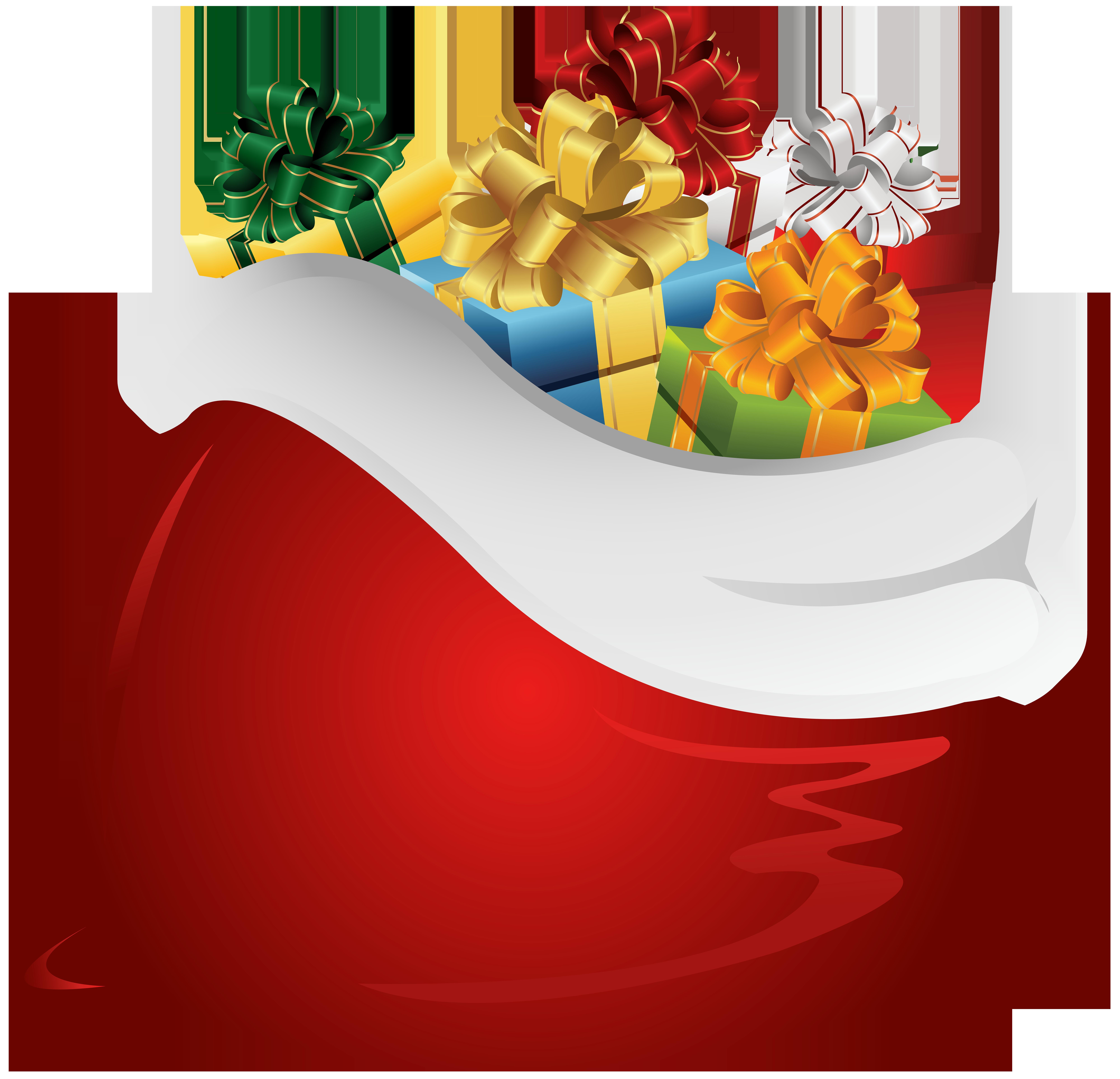 Santa Claus Bag PNG Clip Art.