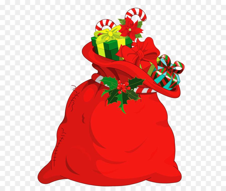Santa Claus Christmas Gift Clip Art.