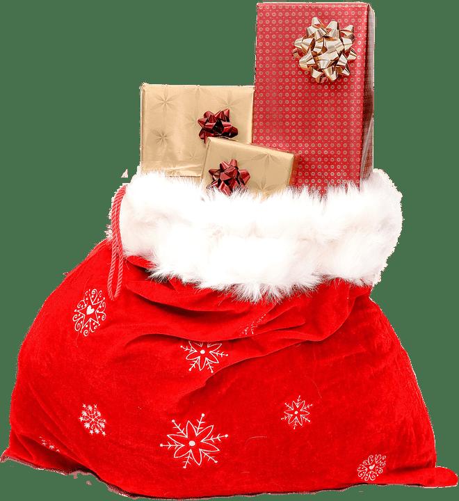 Santa Claus Bag transparent PNG.