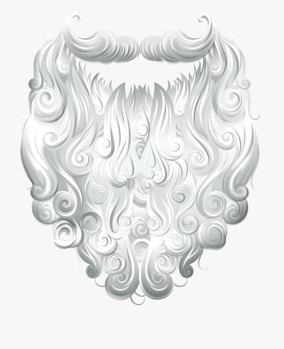 Beard Clipart Santa Claus.