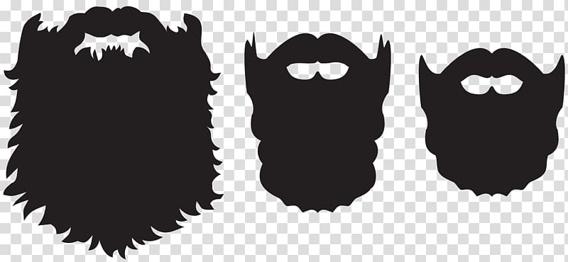 Three black beards illustration, Beard Santa Claus , Beard.