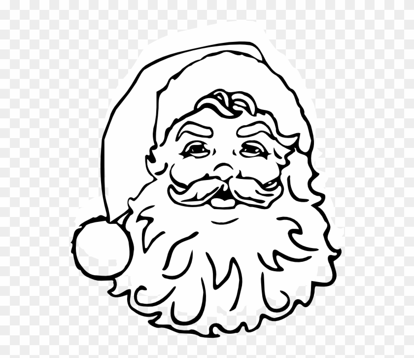 Black And White Pictures Of Santa Claus.