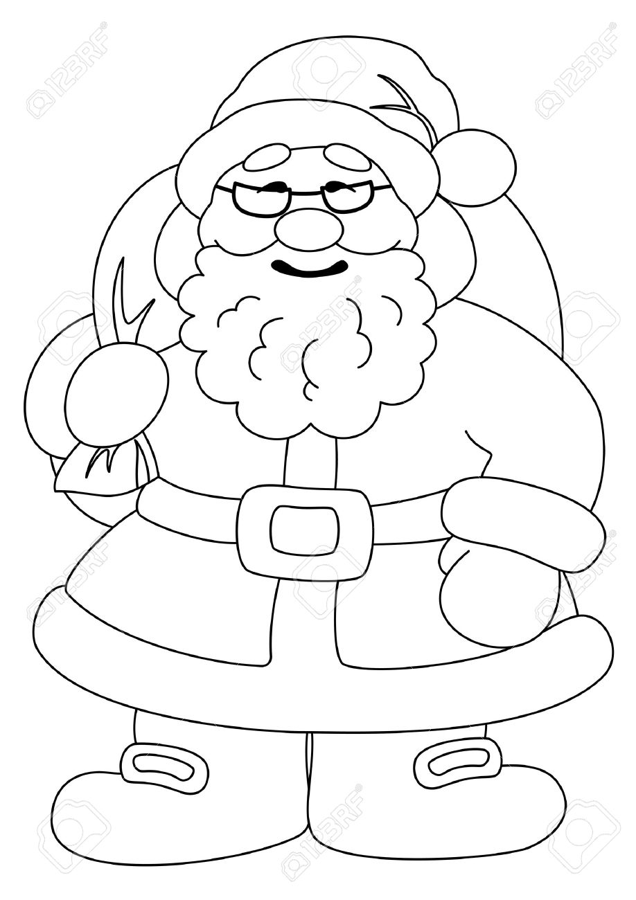 Santa claus black and white clipart 4 » Clipart Station.