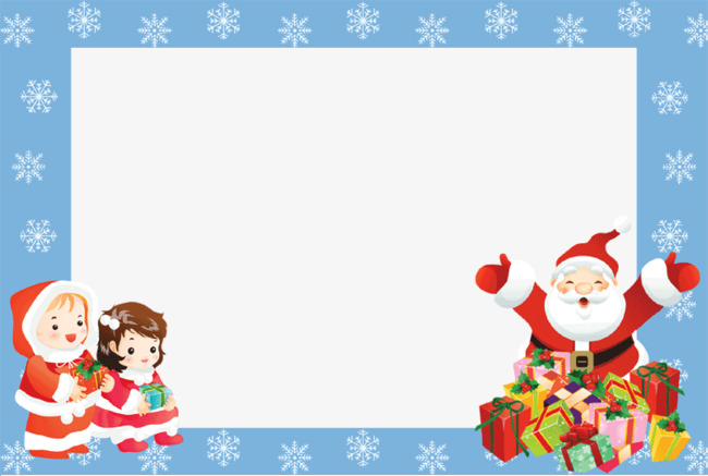 Download Free png Santa Claus Border, Santa Clipart.