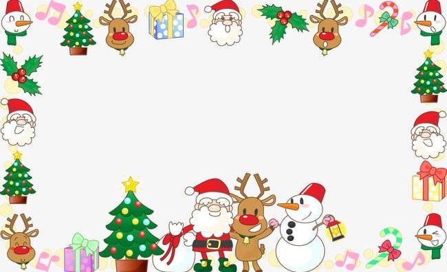 Santa Claus Christmas Decoration Border Frame PNG, Clipart.