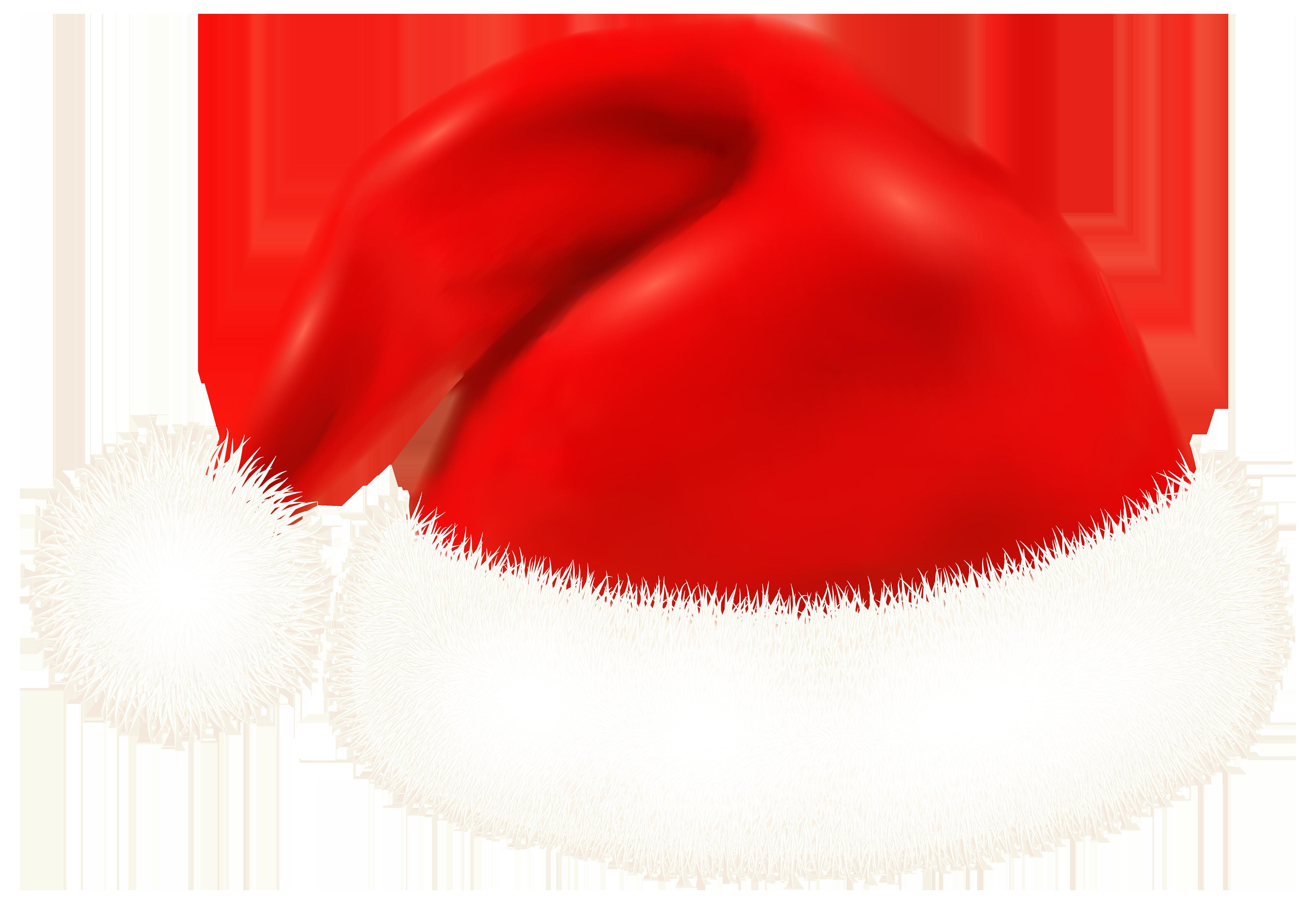 Santa Claus Hat PNG Clipart Image.