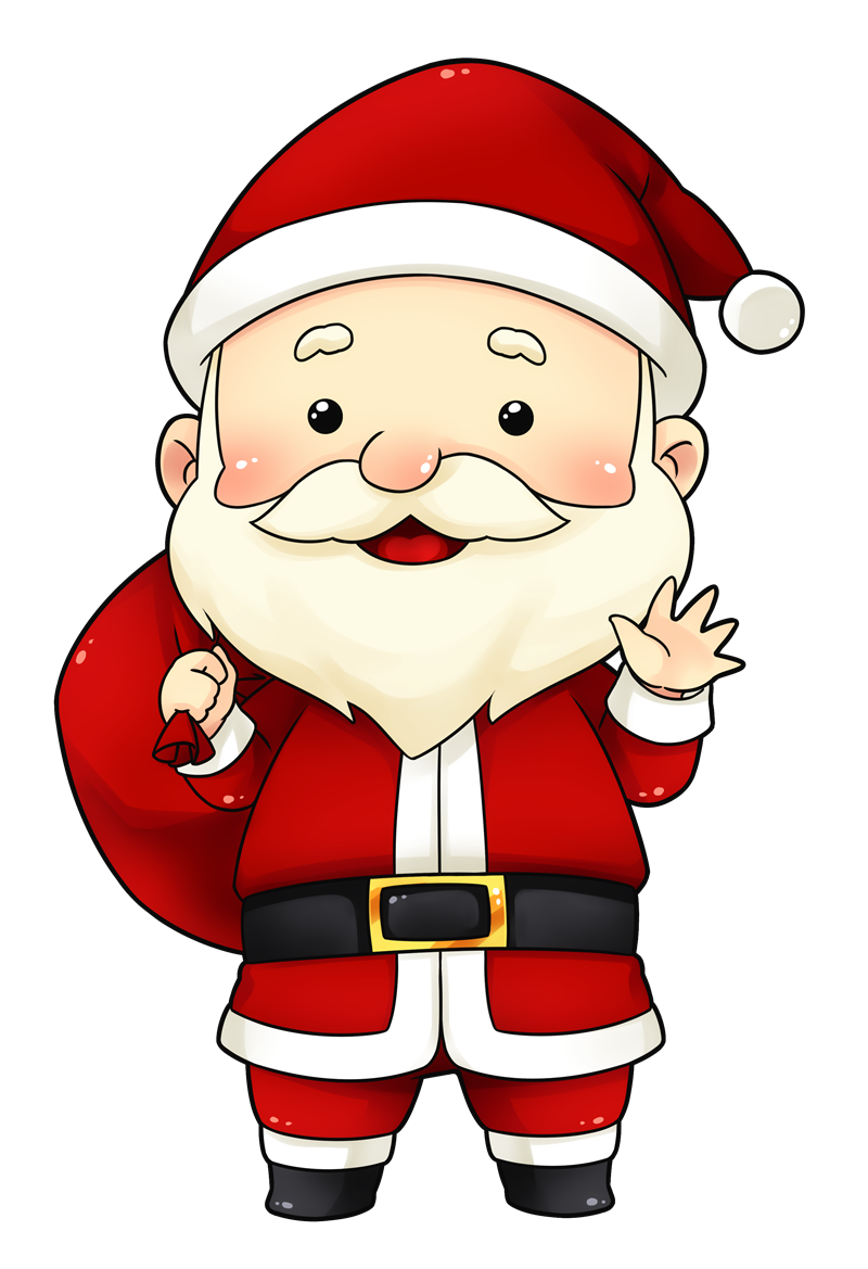 You can use this cute and adorable Santa clip art on.