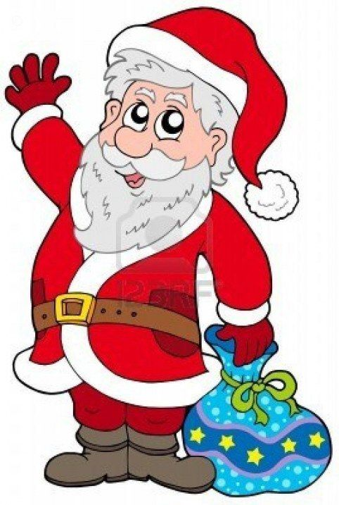 Animated Santa Claus Clipart Free Download.