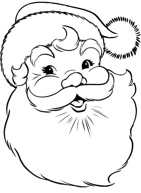 Santa Claus Clipart Coloring Pages Clipground