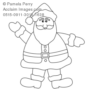 Clipart Illustration of Clip Art Illustration of a Santa Claus.