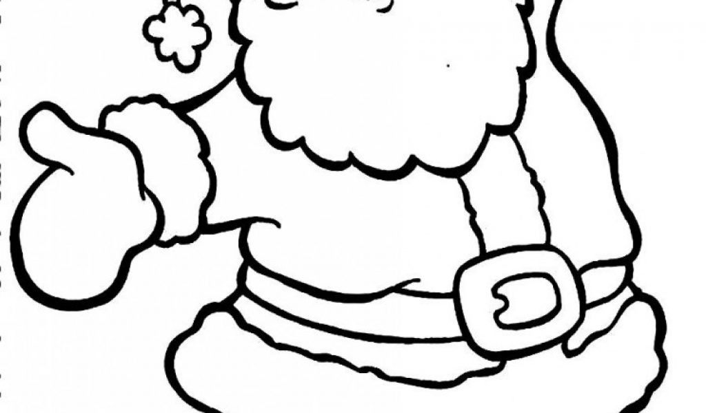 Santa Claus Coloring Pages For Kids Free