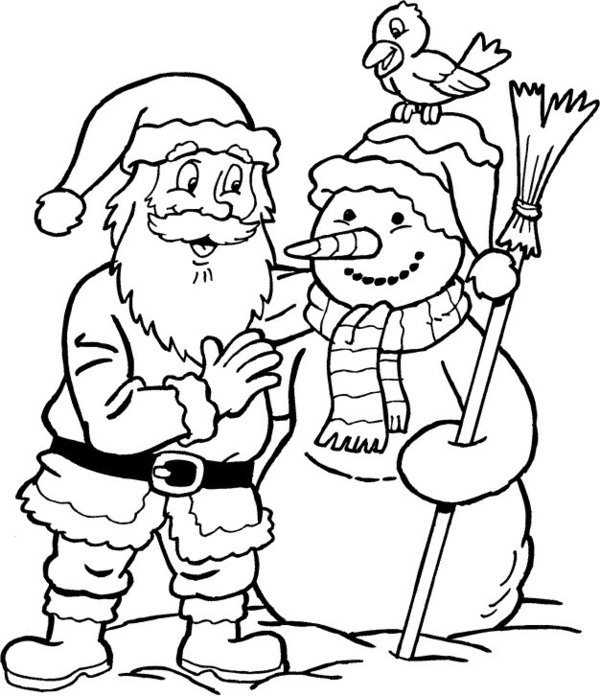 Printable Santa Claus Coloring Pages for Christmas Day.