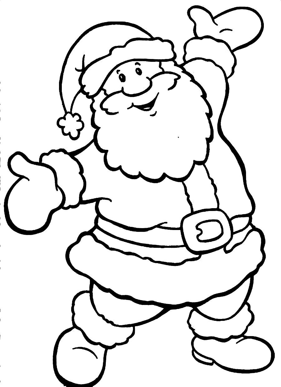 Santa Claus Clipart Coloring Pages Printable.