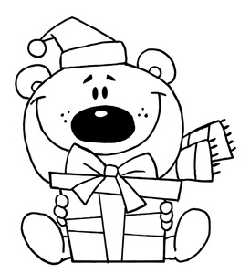 Christmas Clip Art Coloring Pages.