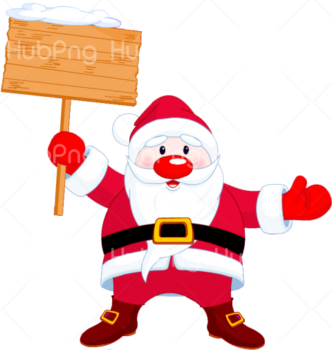 png santa claus cartoon clipart Transparent Background Image.