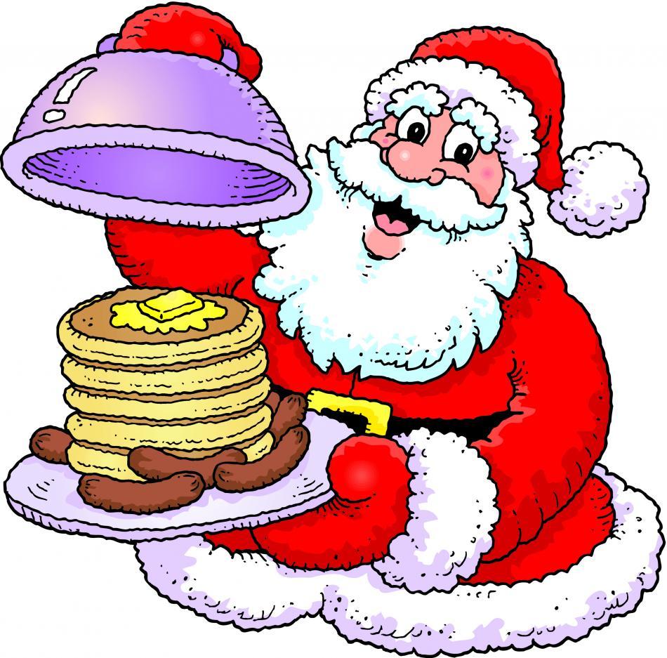 Santa Breakfast Clipart.