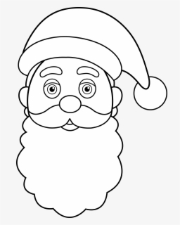 Free Santa Claus Face Clip Art with No Background.
