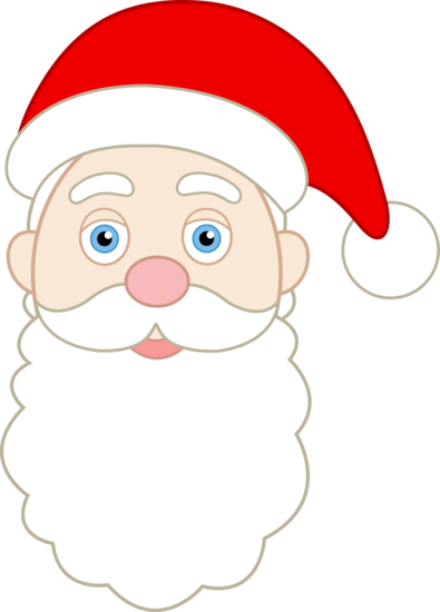 printable santa face pattern.
