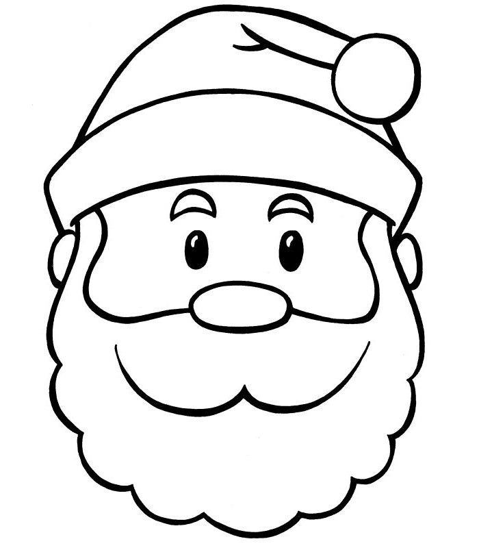 60+ Best Santa Templates Shapes, Crafts & Colouring Pages.