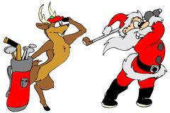 Illustration Of Cute Santa Claus Golfer Ro #130187.