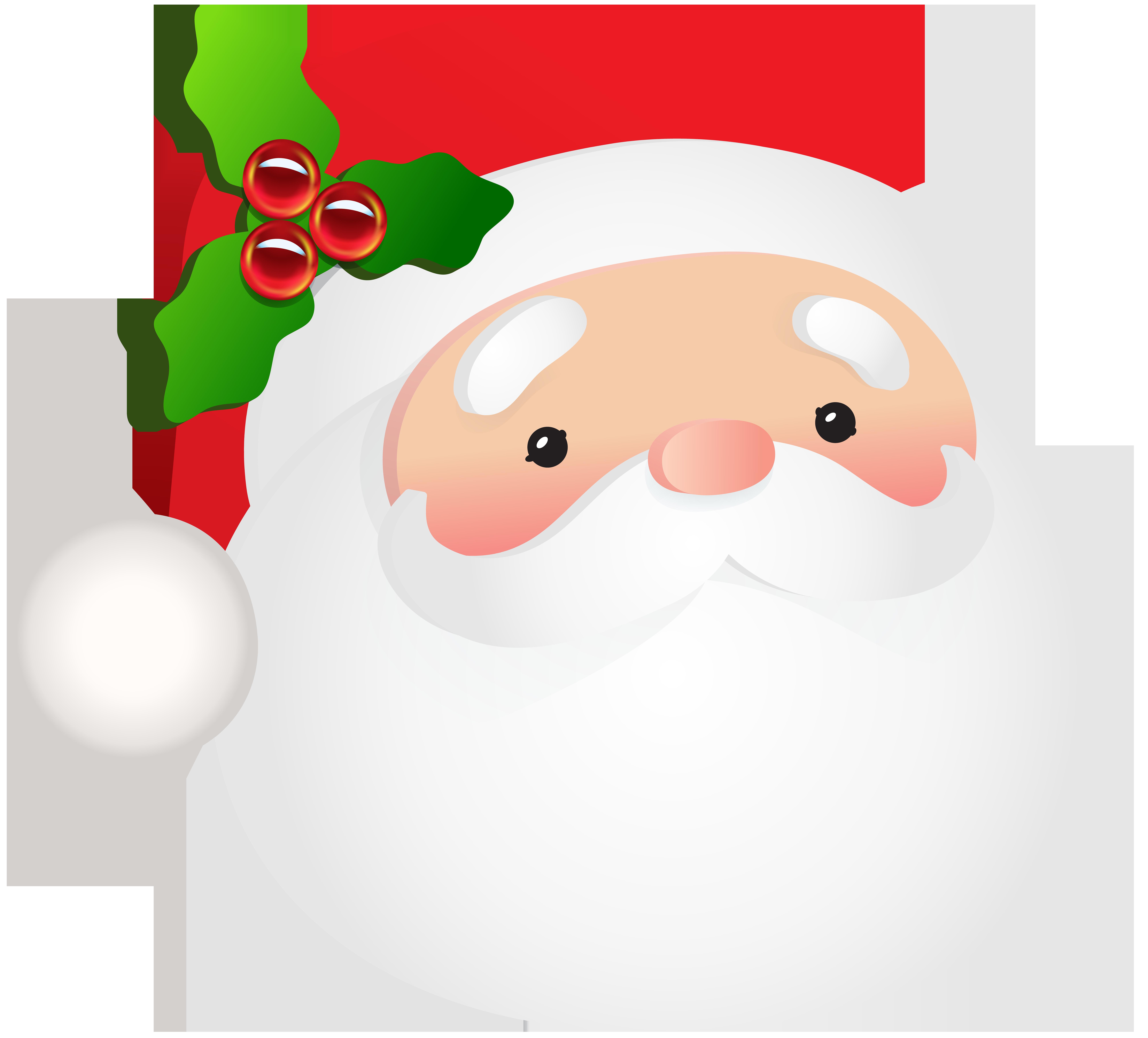 Santa Claus Head PNG Clip Art Image.