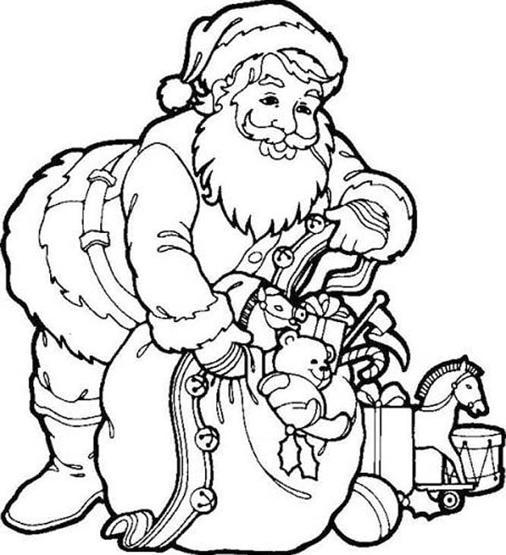 Santa Claus Coloring Book Father Christmas Child PNG.