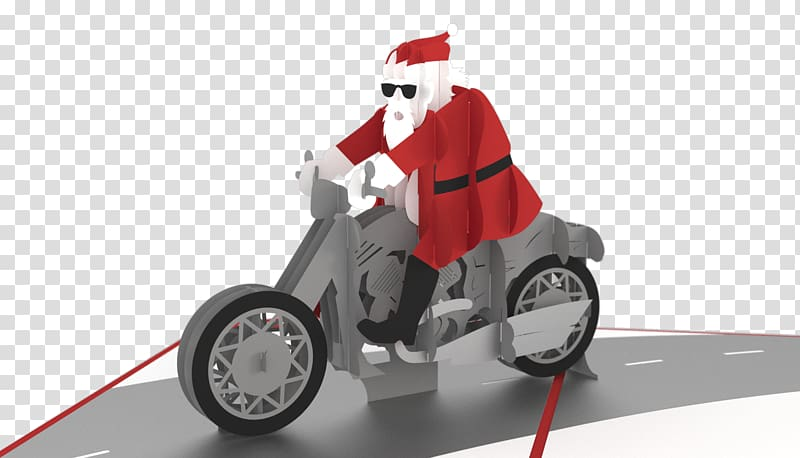Santa Claus Motor vehicle Motorcycle Harley.