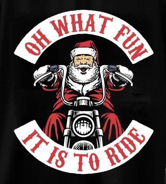 Biker Santa.