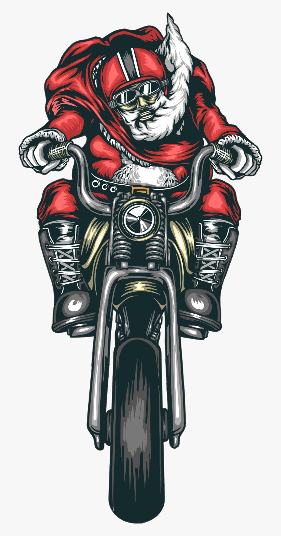 Motorcycle Santa Straightened.