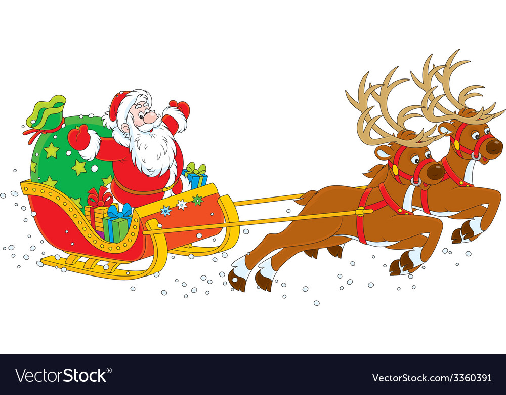 Sleigh of Santa Claus.