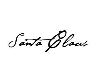 Santa Signature Clipart.