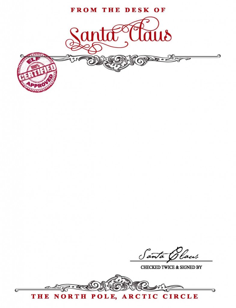 Official Letter From Santa Template  MaggiLocustdesignCo