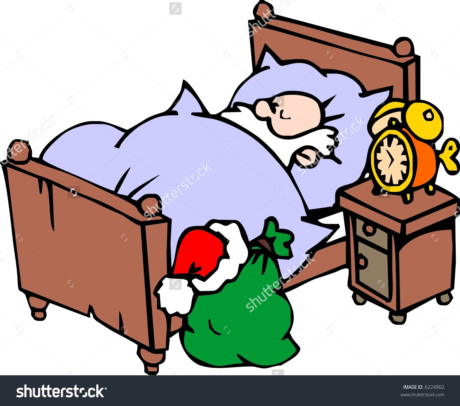 Showing post & media for Cartoon santa sleeping clip art.