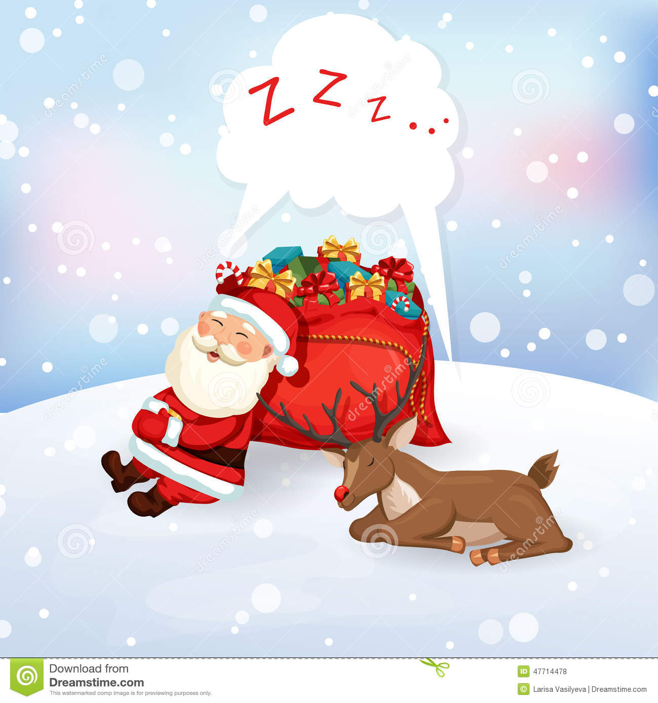 Santa Claus Sleeping Stock Illustrations.