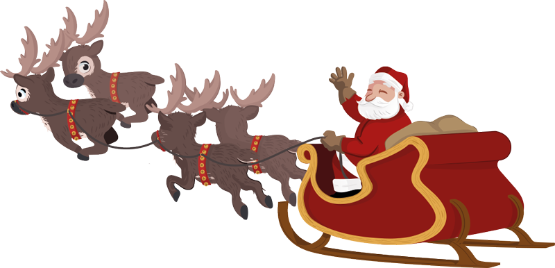 Santa Claus On Sleigh PNG Transparent Image Free #10.
