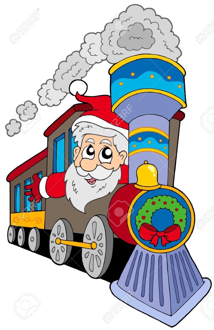Santa Claus On Train.