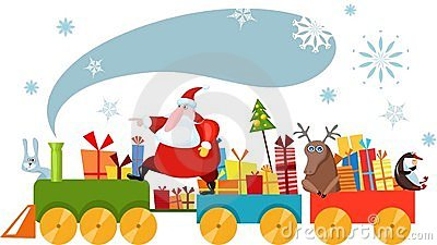 Santa Claus Train Stock Photos, Images, & Pictures.